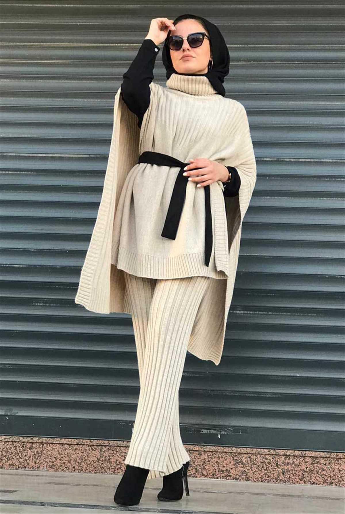 Ermi Tekstil Tesettür Triko Takım Kombinleri