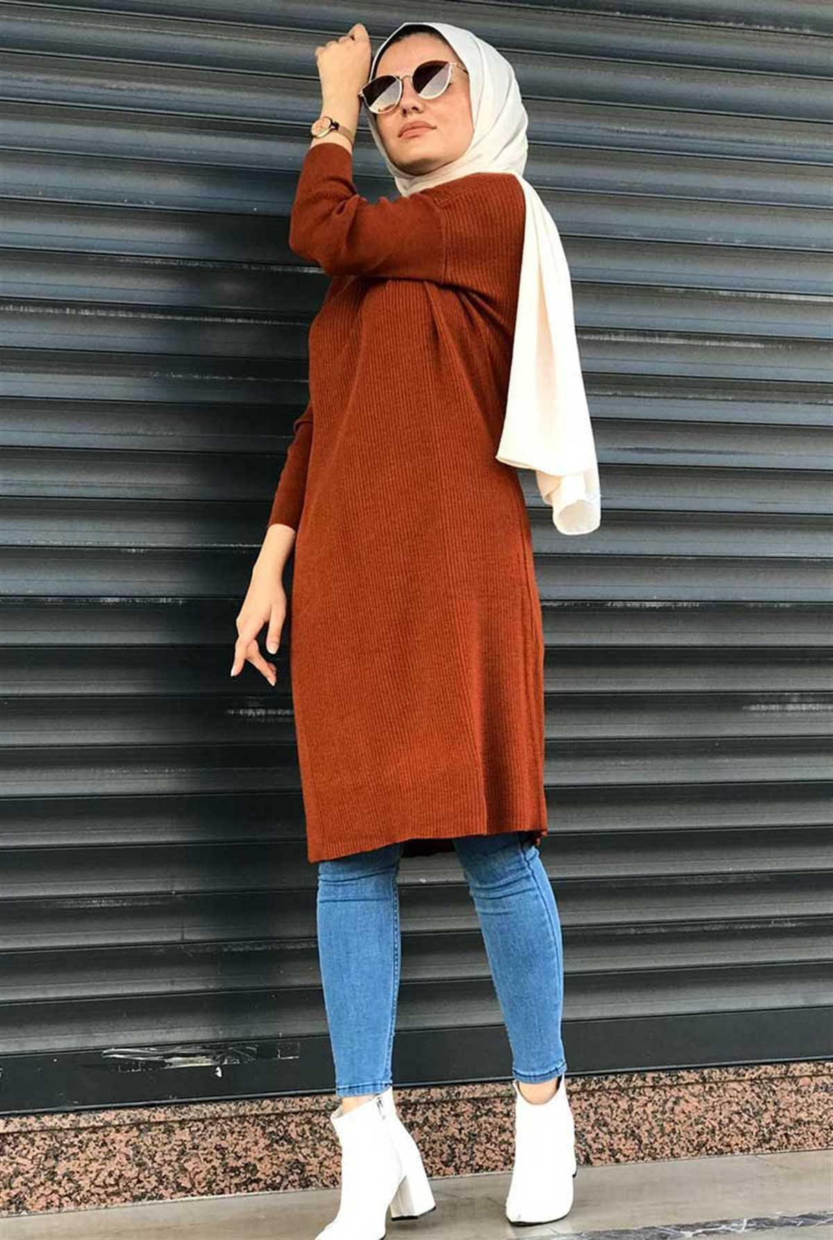 Ermi Tekstil Tesettür Triko Tunik Kombinleri