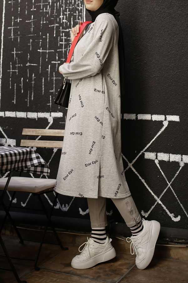 Esra Keküllüoğlu Tesettür Baskılı Sweatshirt Modelleri