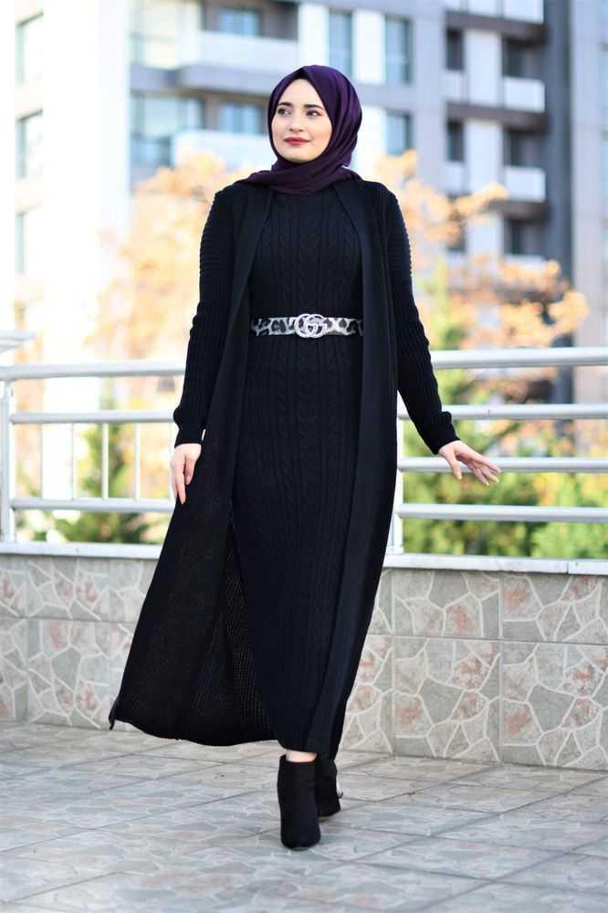 Modam Afra Tesettür Triko Takım Modelleri