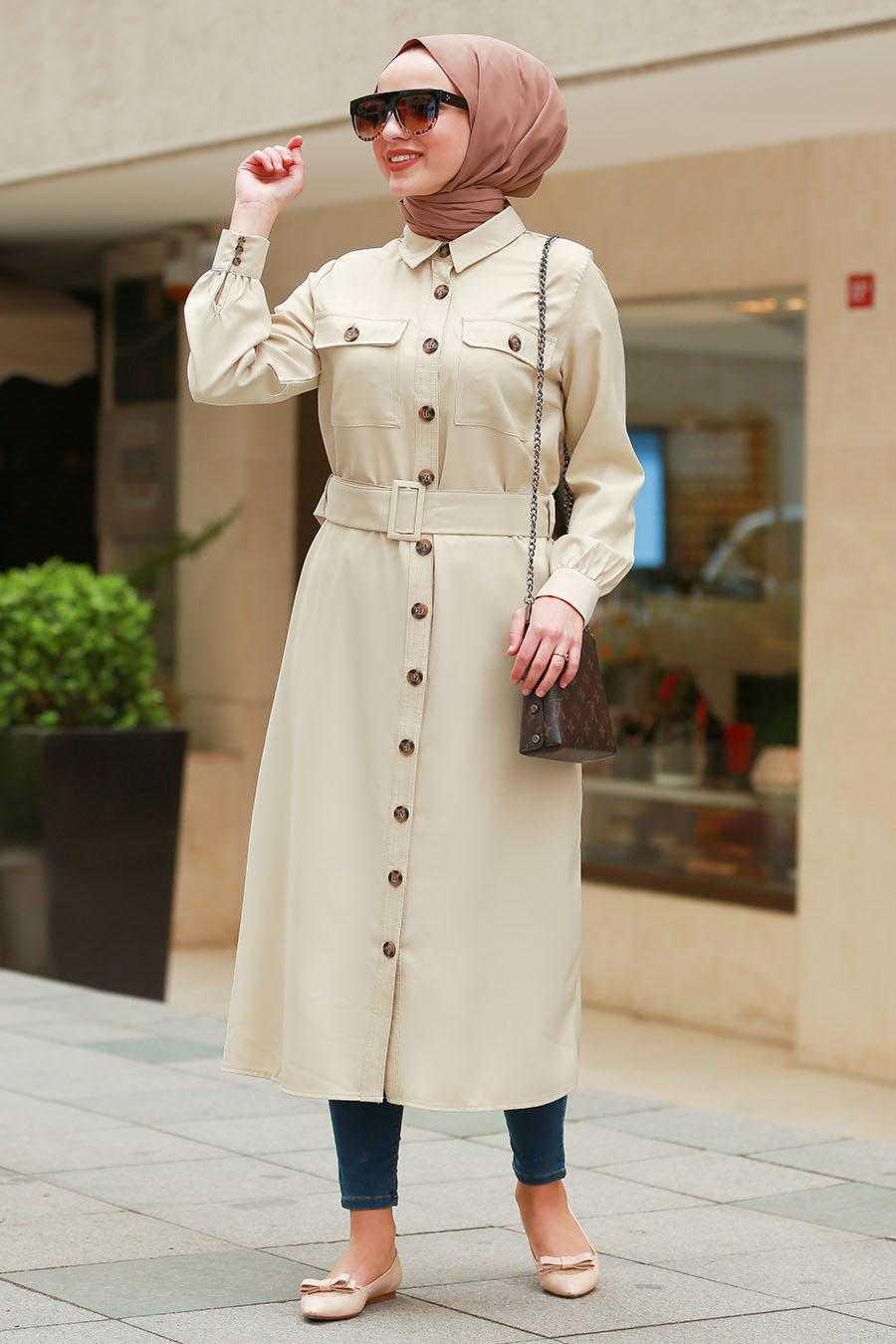 Nayla Collection Sonbahar Kış Düğmeli Tunik Modelleri