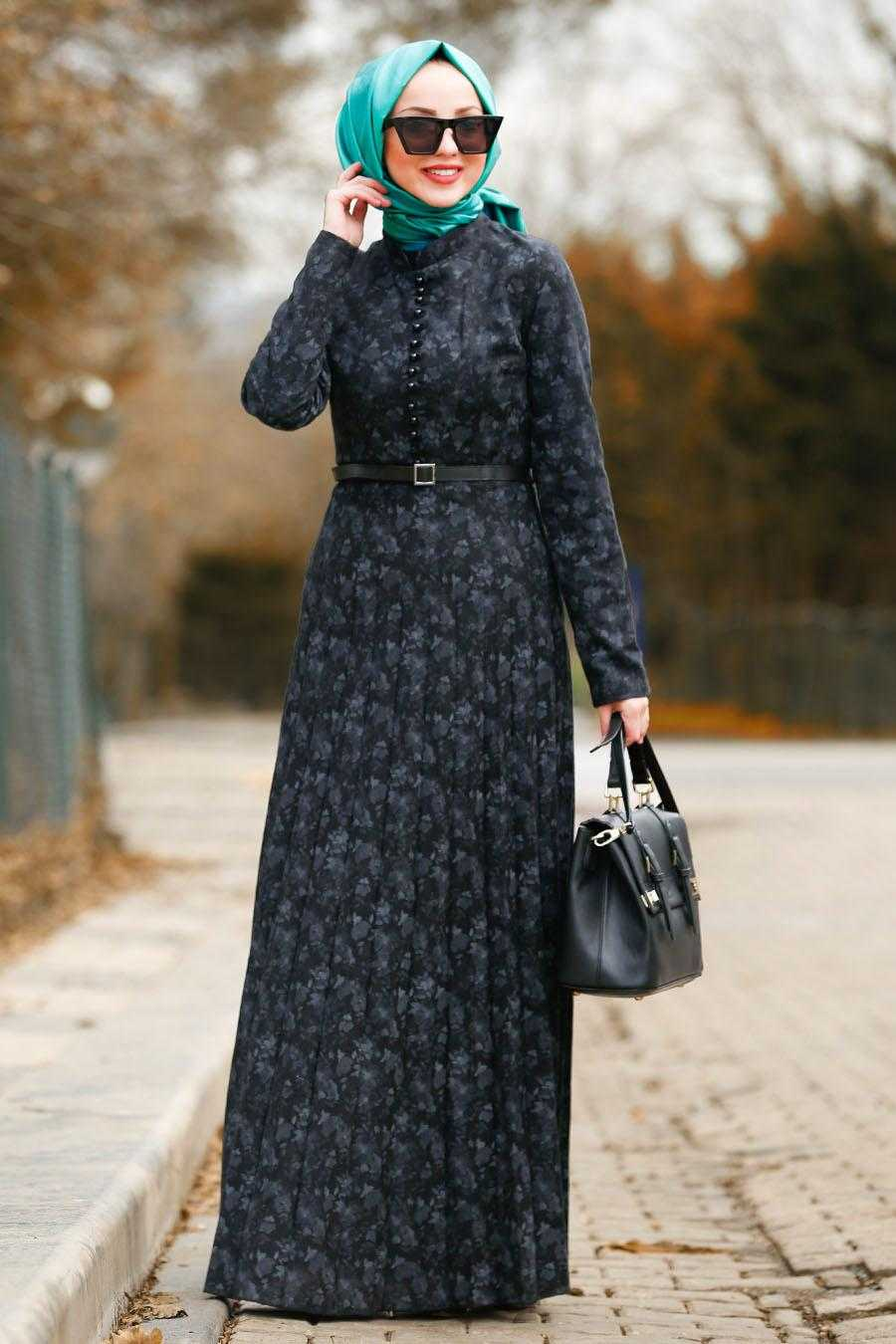 Nayla Collection Sonbahar Kış Kemerli Elbise Modelleri
