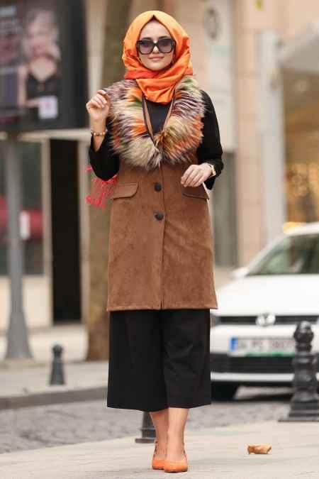 Nayla Collection Sonbahar Kış Kürklü Yelek Modelleri