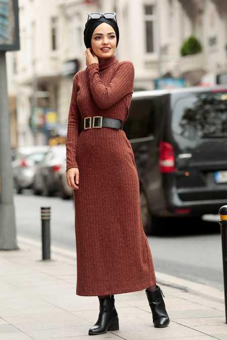 Nayla Collection Tesettür Triko Elbise Kombinleri