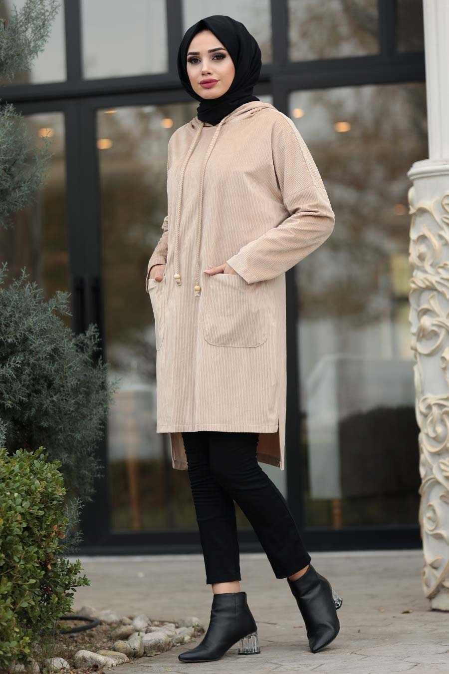 Neva Style Sonbahar Kış Kadife Tunik Modelleri