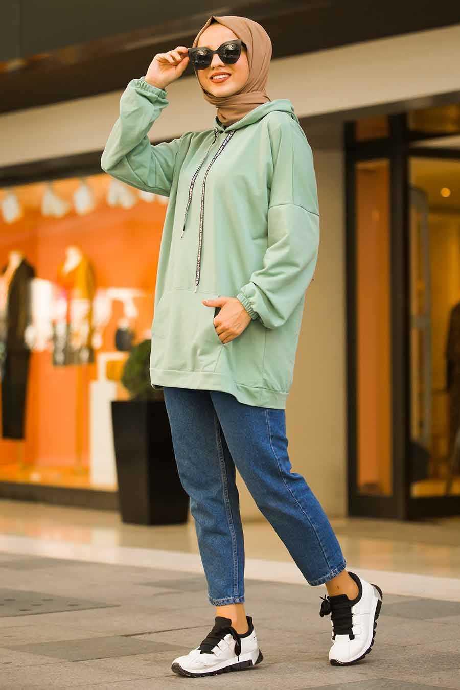 Neva Style Tesettür Cepli Sweatshirt Modelleri