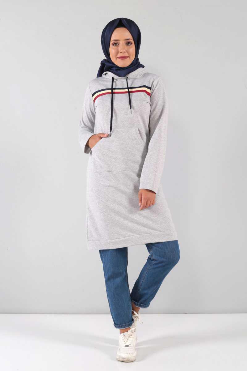 Tesettür Dünyası Uzun Sweatshirt Modelleri