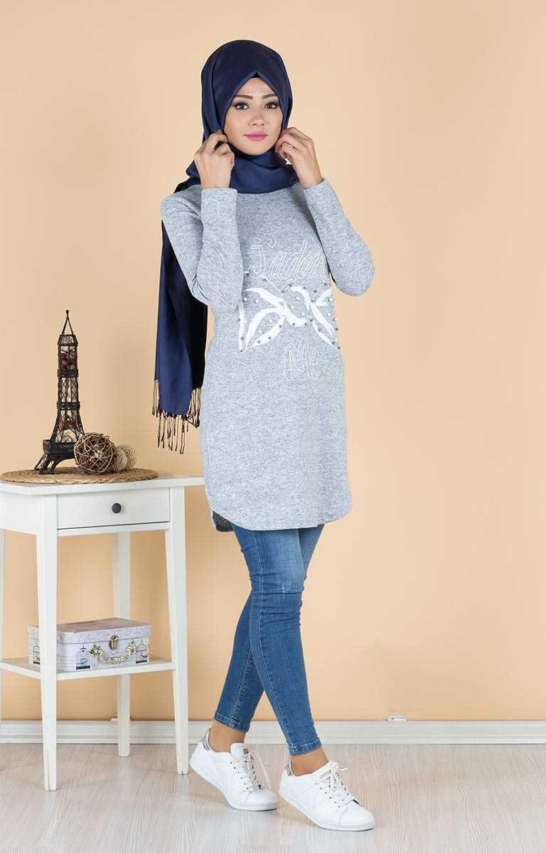Tesettür Pazarı Sonbahar Kış Şık Tunik Modelleri