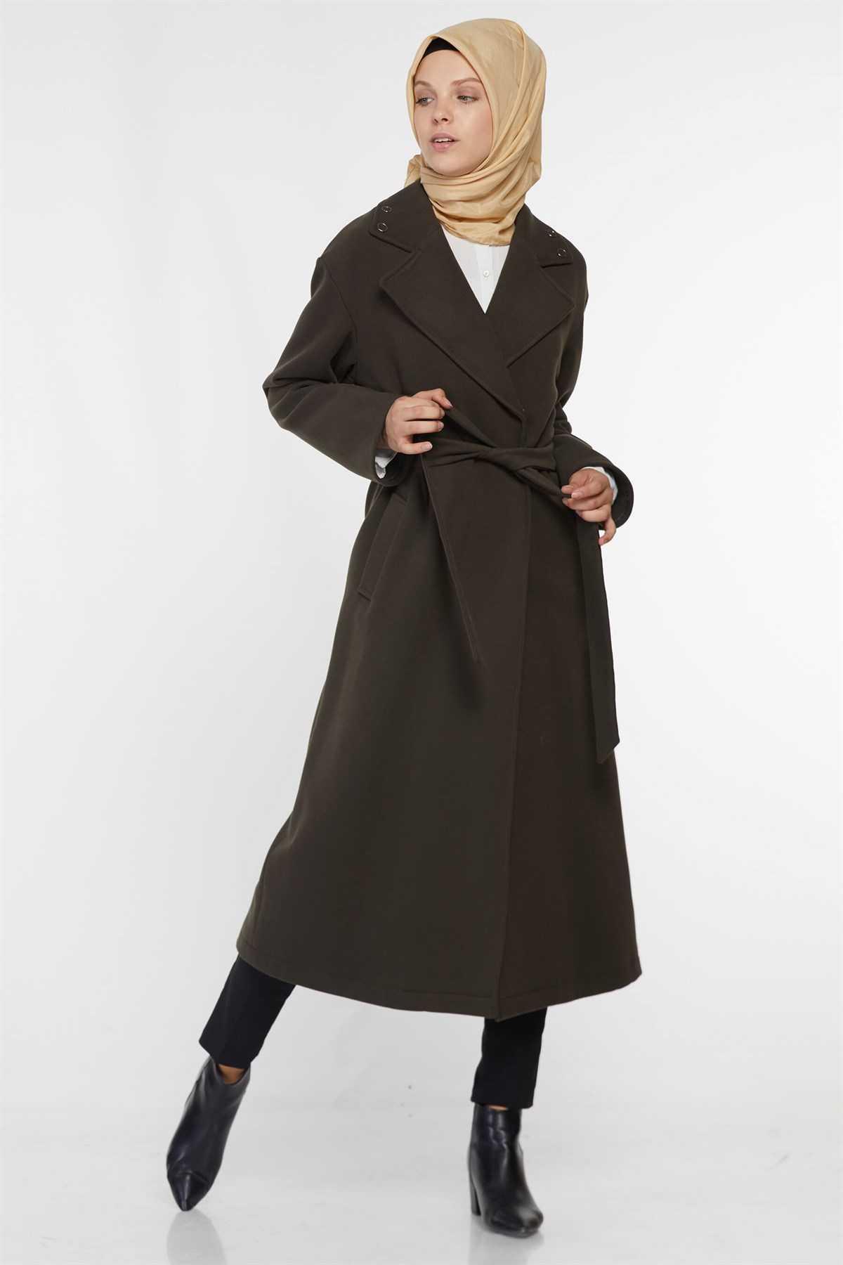 Vivencia Kuşaklı Uzun Manto Modelleri