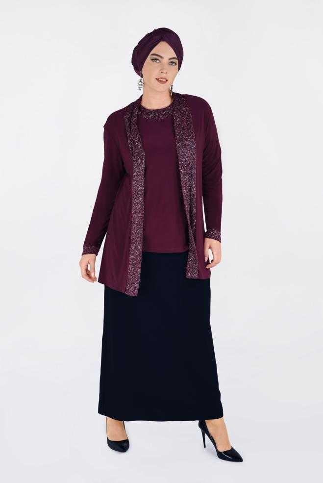 Alvina Büyük Beden Tesettür Ceket Bluz Modelleri