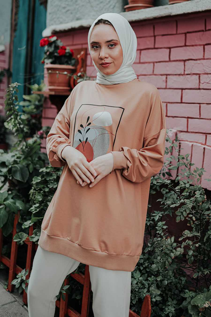 Arya Moda Toprak Rengi Sweatshirt Modelleri