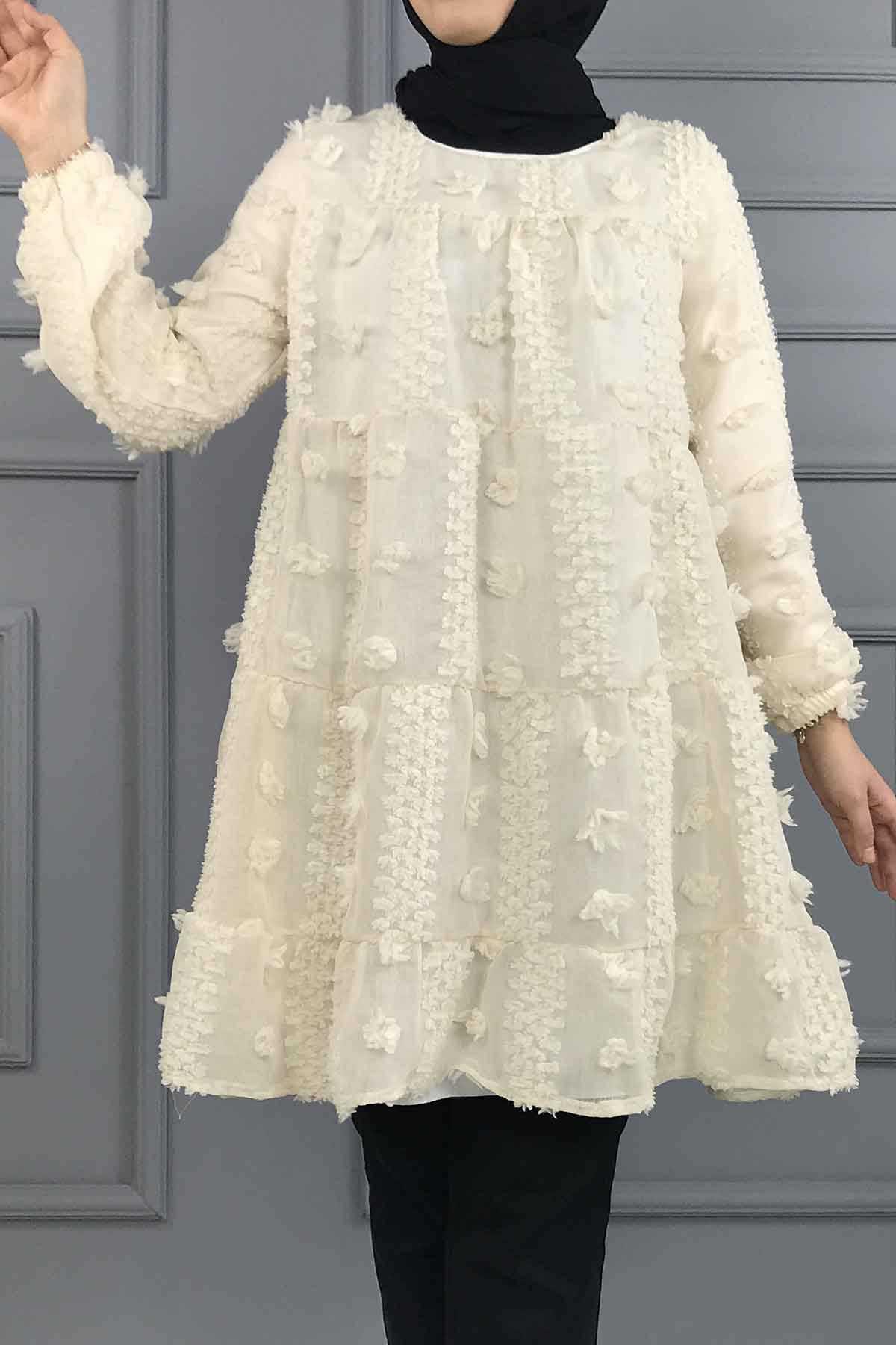 Ermi Tekstil Tesettür Tül Tunik Modelleri