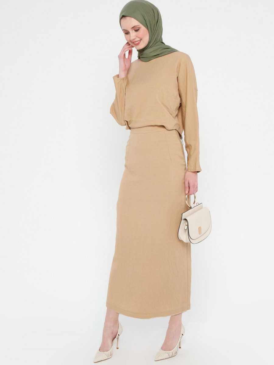 Loreen By Puana Toprak Rengi Elbise Modelleri