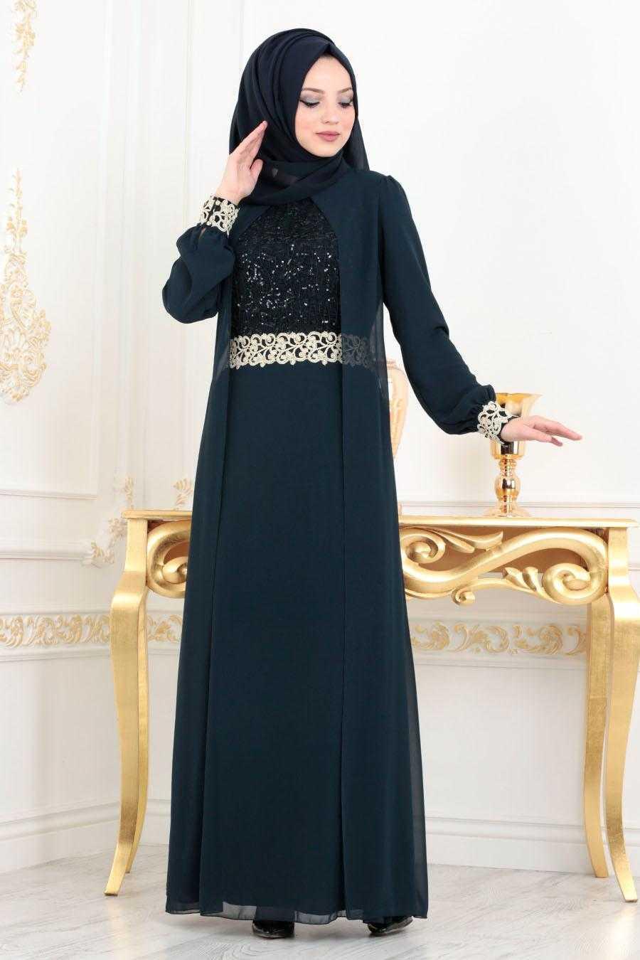 Nayla Collection Aplike Detaylı Abiye Elbise Modelleri