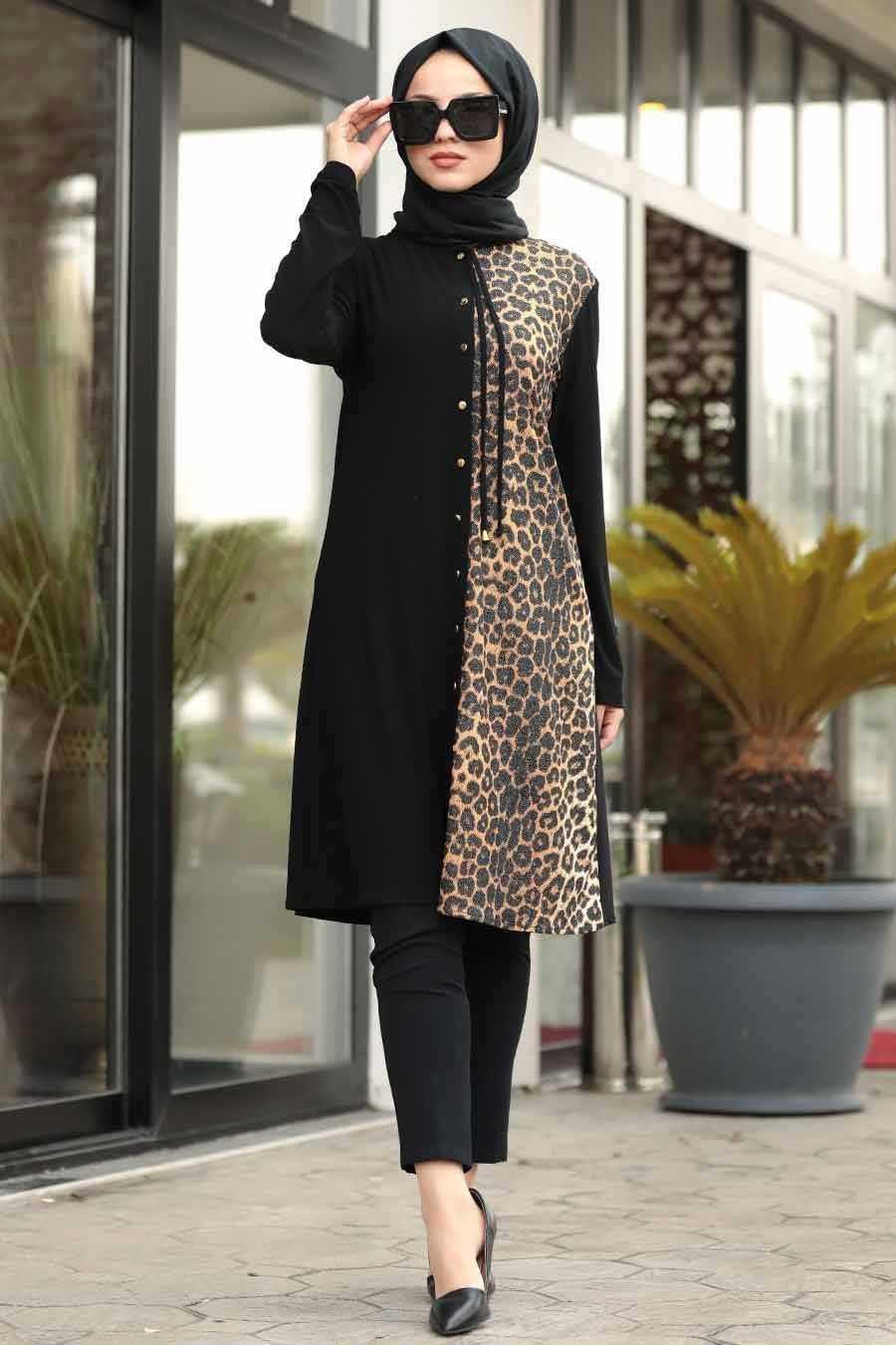 Neva Style Leopar Desenli Tunik Modelleri
