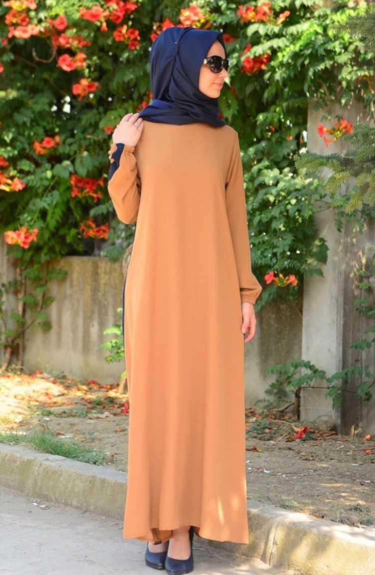 Sefamerve Toprak Rengi Elbise Modelleri