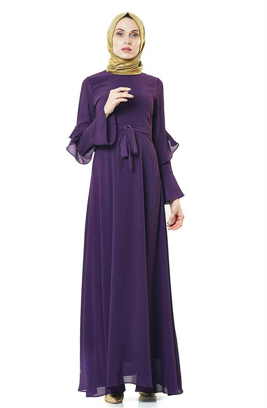 2NIQ Tesettür Kloş Elbise Modelleri