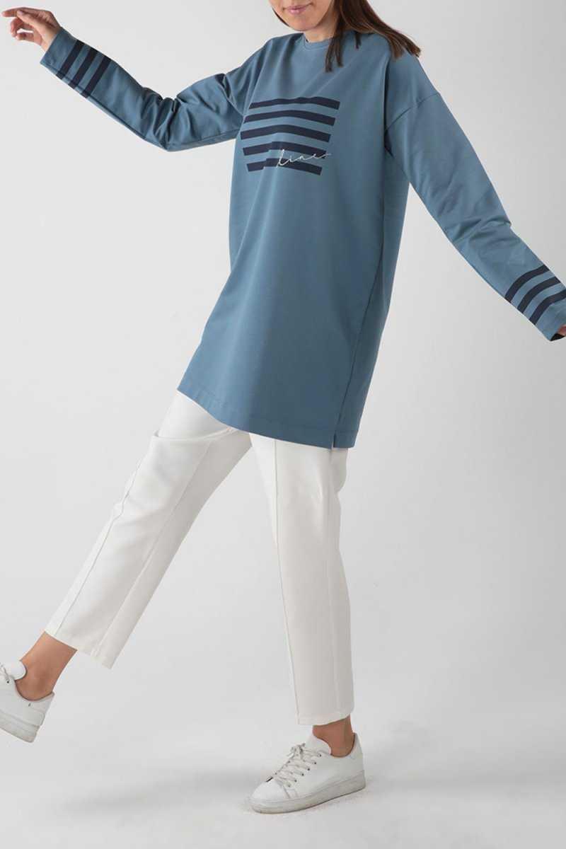 Allday Baskılı Tesettür Sweatshirt Modelleri