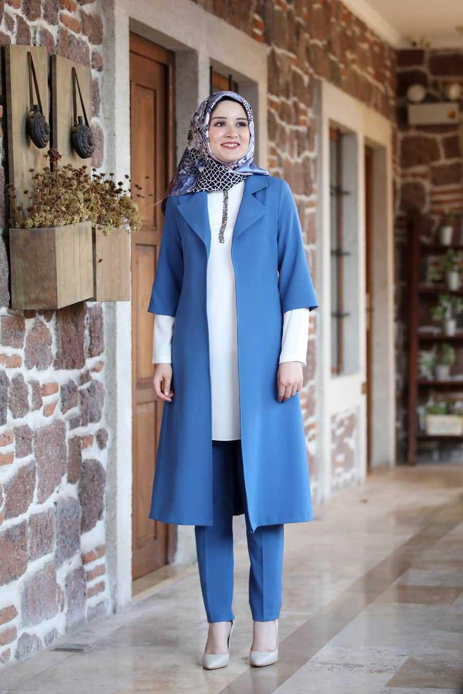 Amine Hüma Tesettür Pantolon Uzun Ceket Takımlar