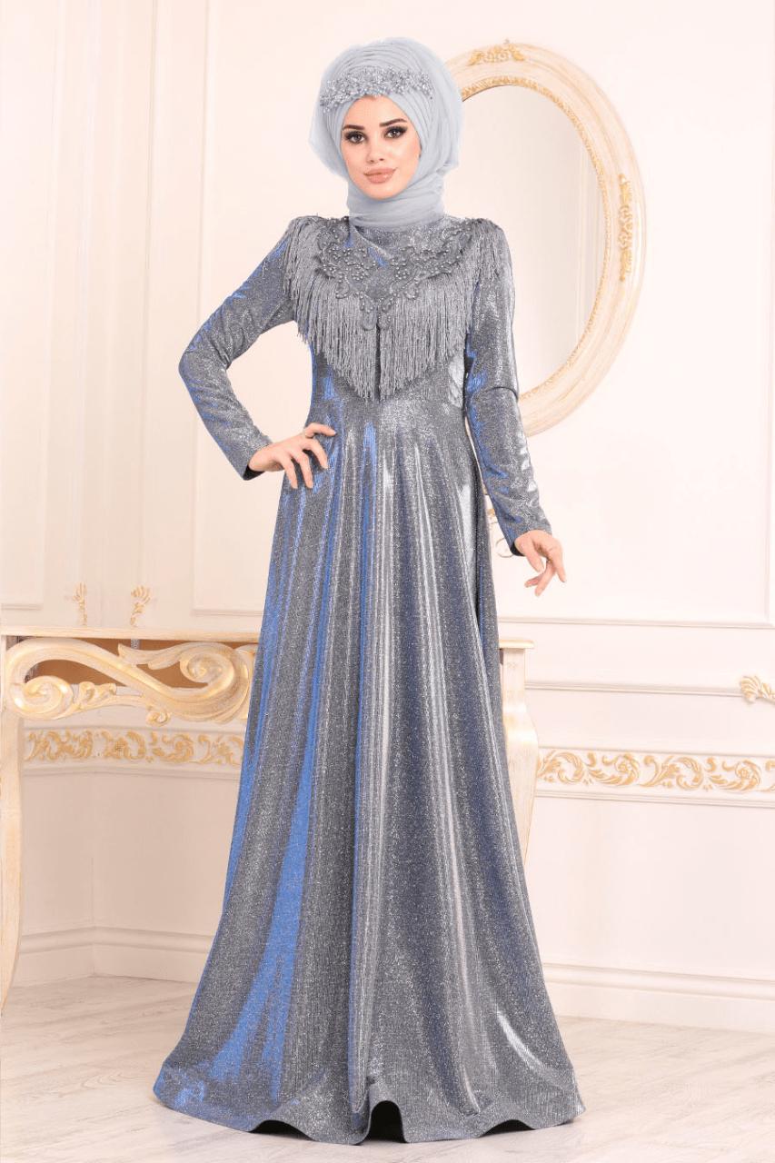 Anıl Moda Tesettür Abiye Elbise Modelleri