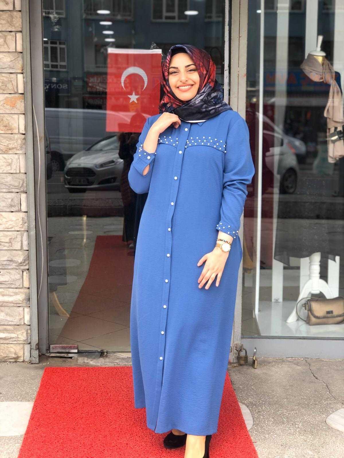 Elfida Tesettür Giy Çık Ayrobin Elbise Modelleri