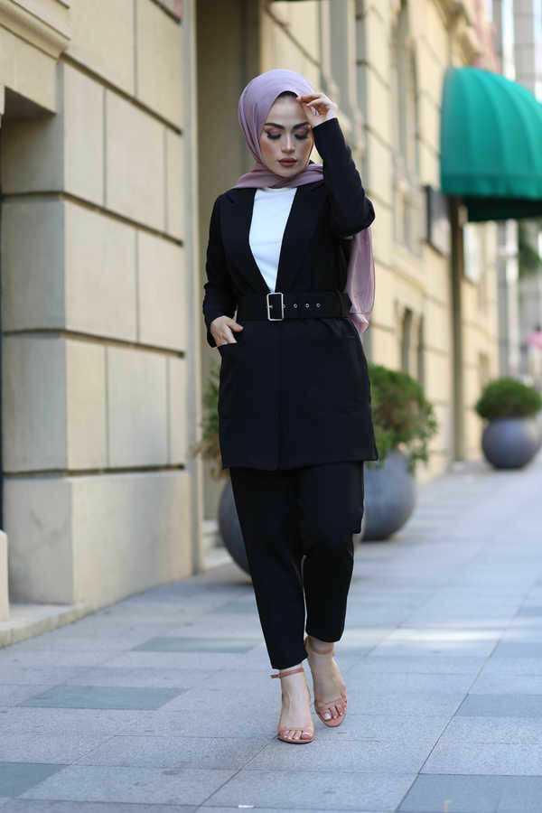 Eliza Moda Tesettür Pantolon Ceket Takımlar