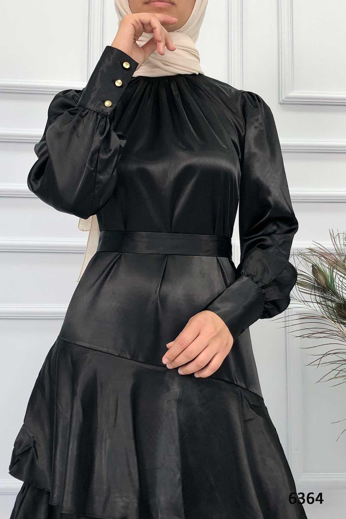 Ermi Tekstil Tesettür Saten Elbise Modelleri