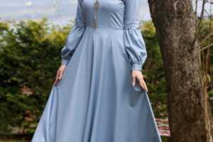 Tesettür Kloş Elbise Modelleri