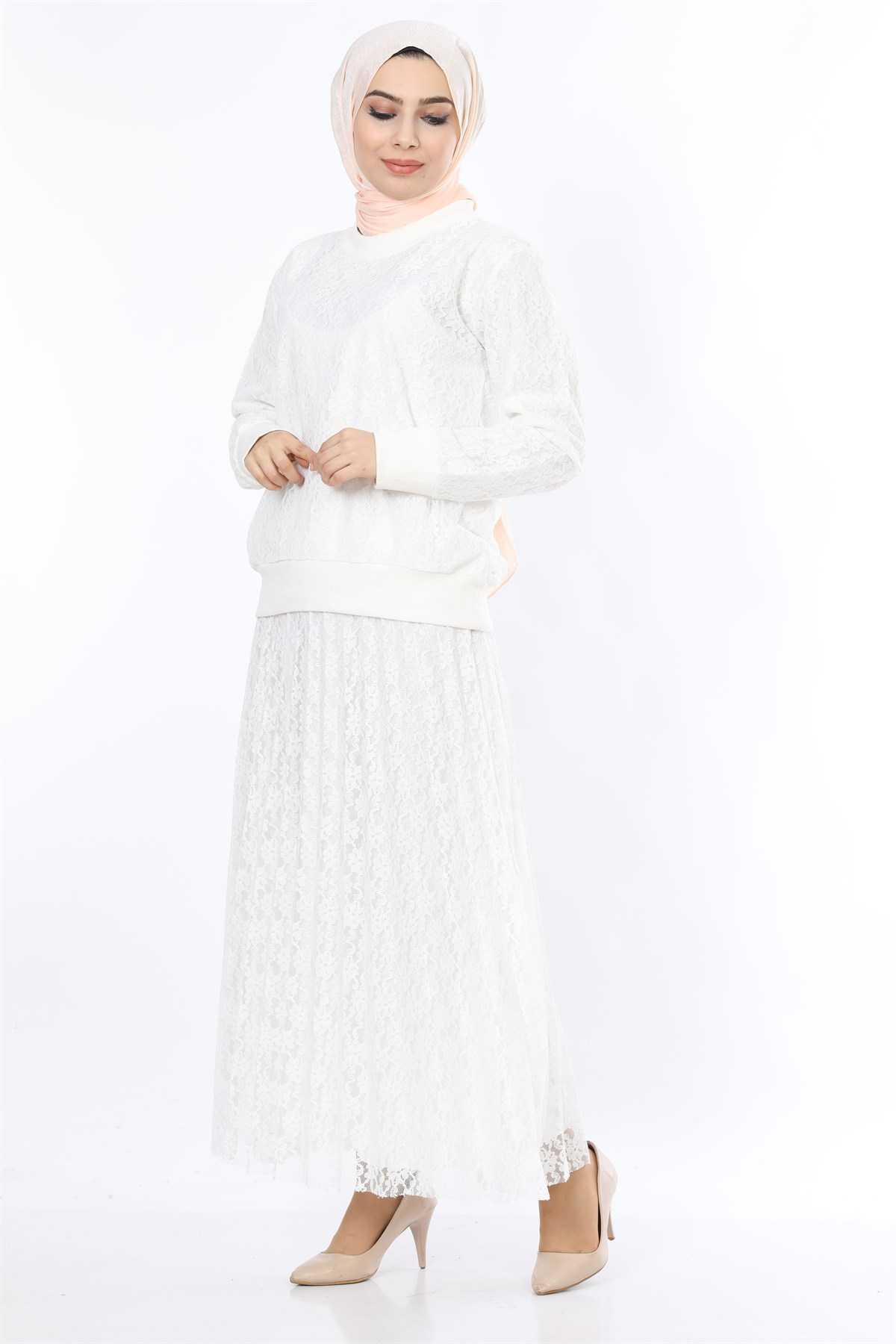 Moda Ahsen Etekli Tesettür Takım Modelleri