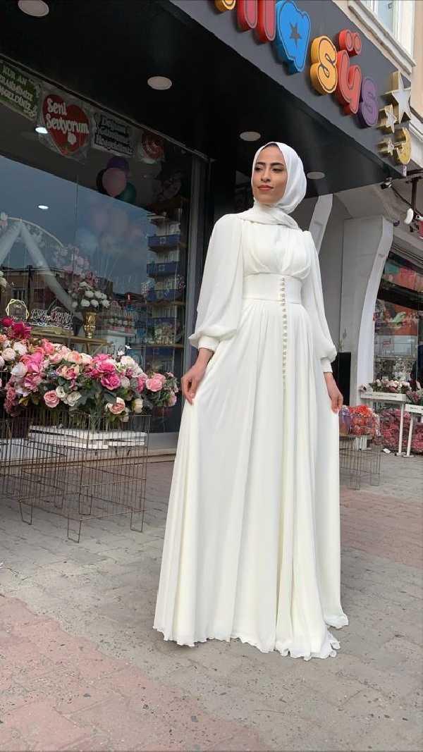Moda Yaprak 2020 Tesettür Abiye Modası