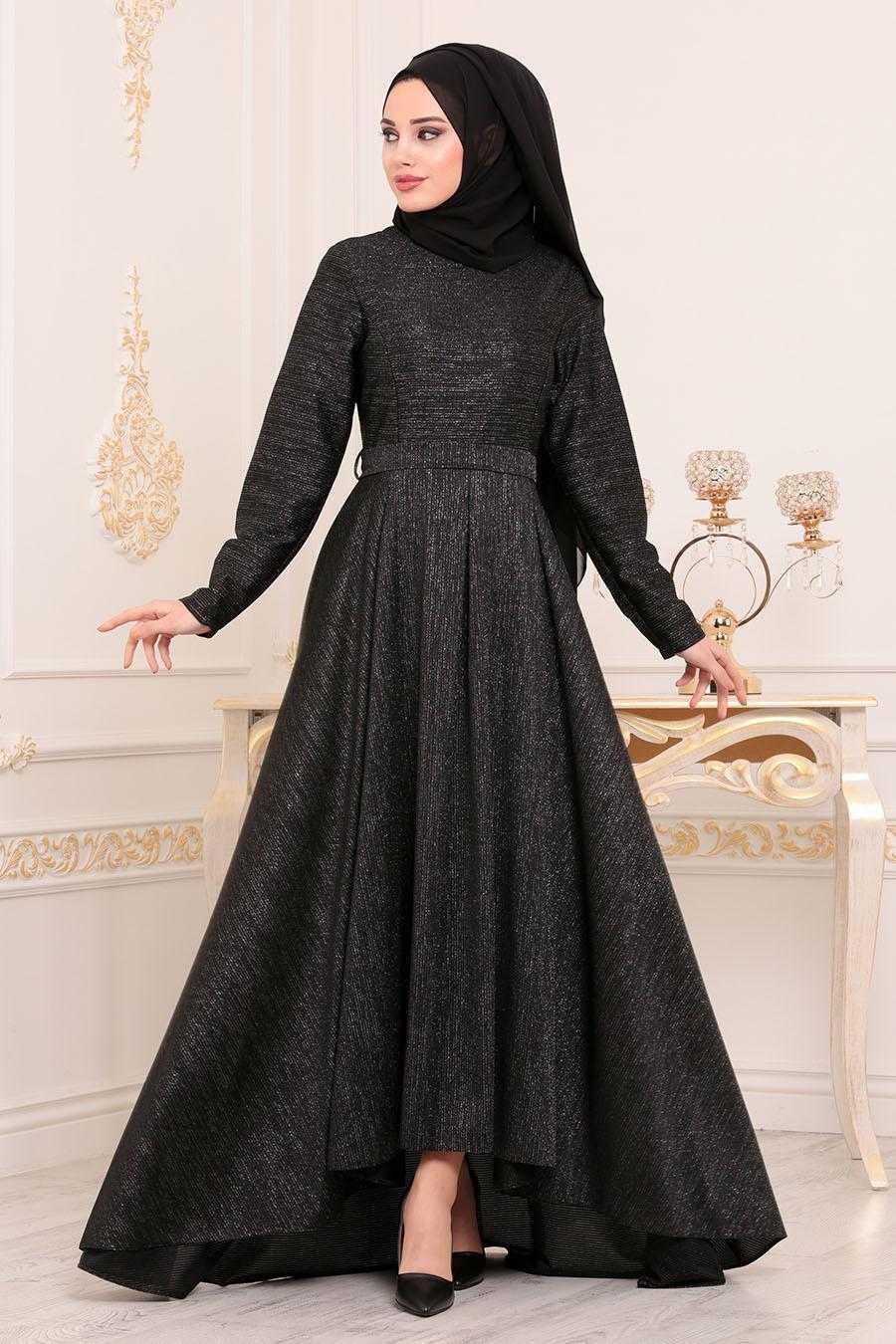 Nayla Collection Tesettür Kloş Elbise Modelleri