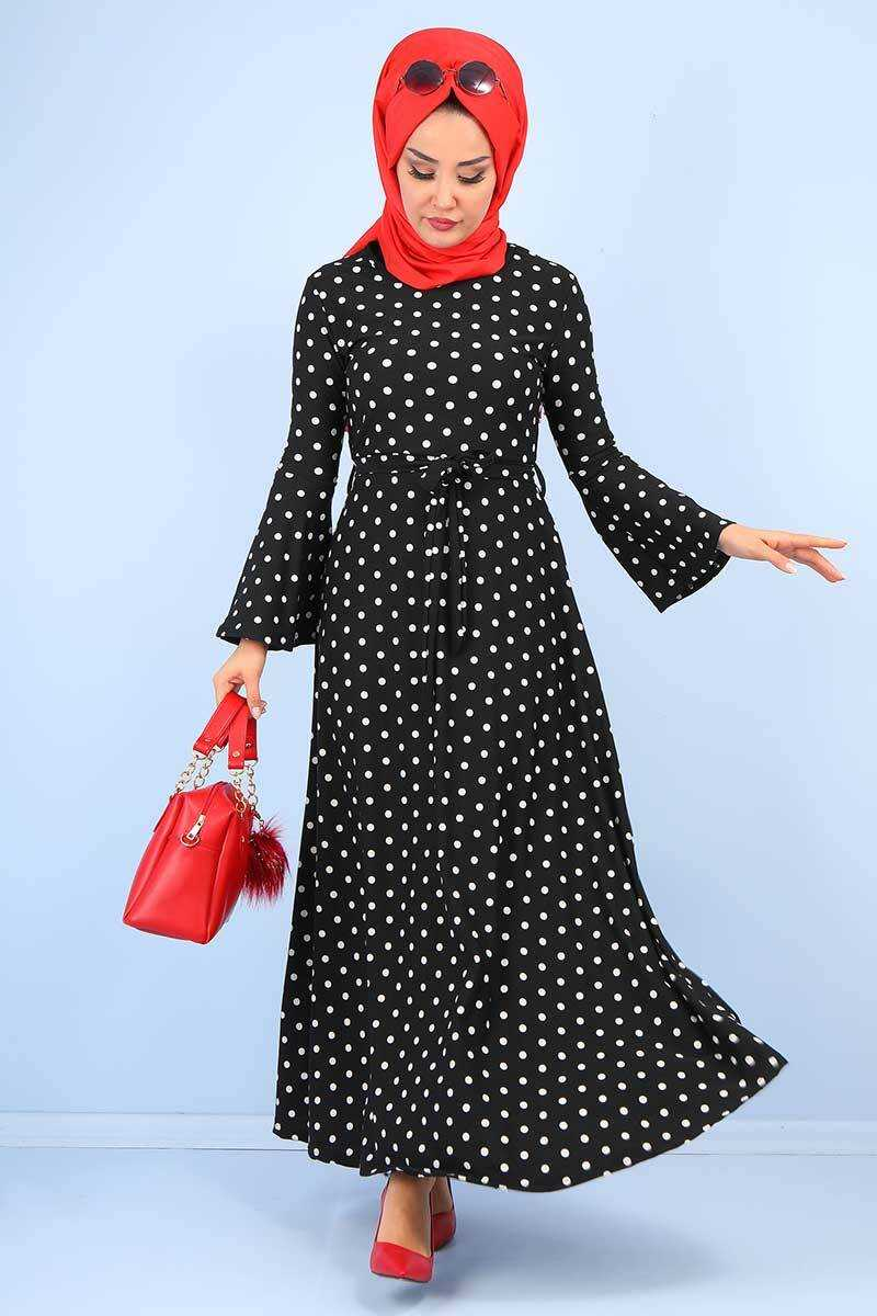 Tek Moda Tesettür Kloş Elbise Modelleri
