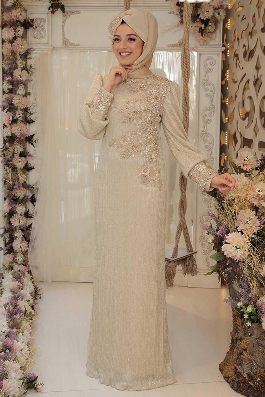 Zehrace Tesettür Zarif Abiye Elbise Modelleri