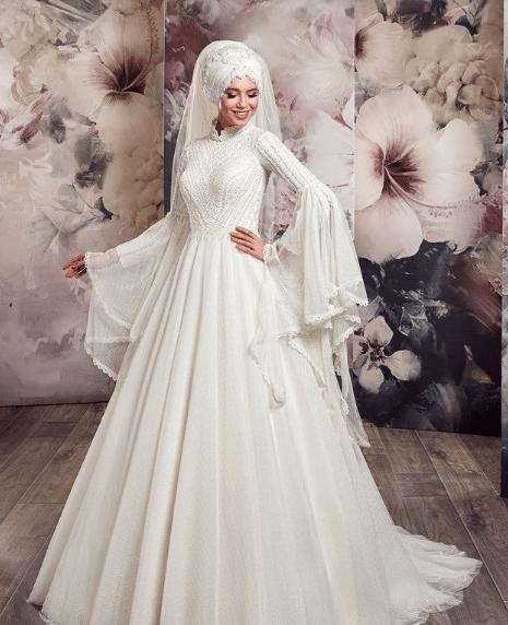 2019 Aysira A Kesim Tesettür Gelinlik Modelleri