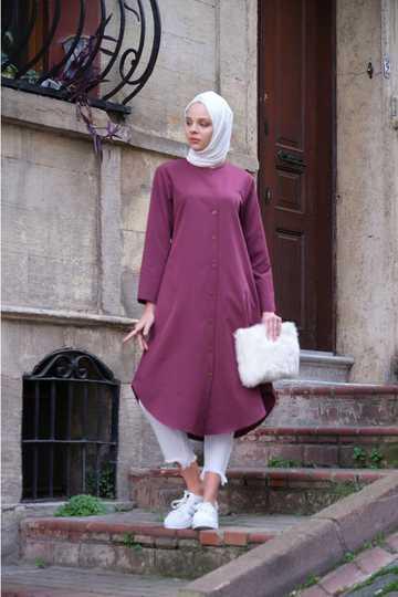 Ecesun Tesettür Boydan Şık Tunik Modelleri