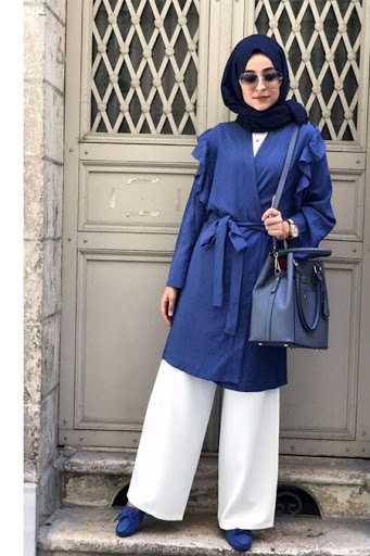 Elif Eser Tesettür Kimono Takım Modelleri
