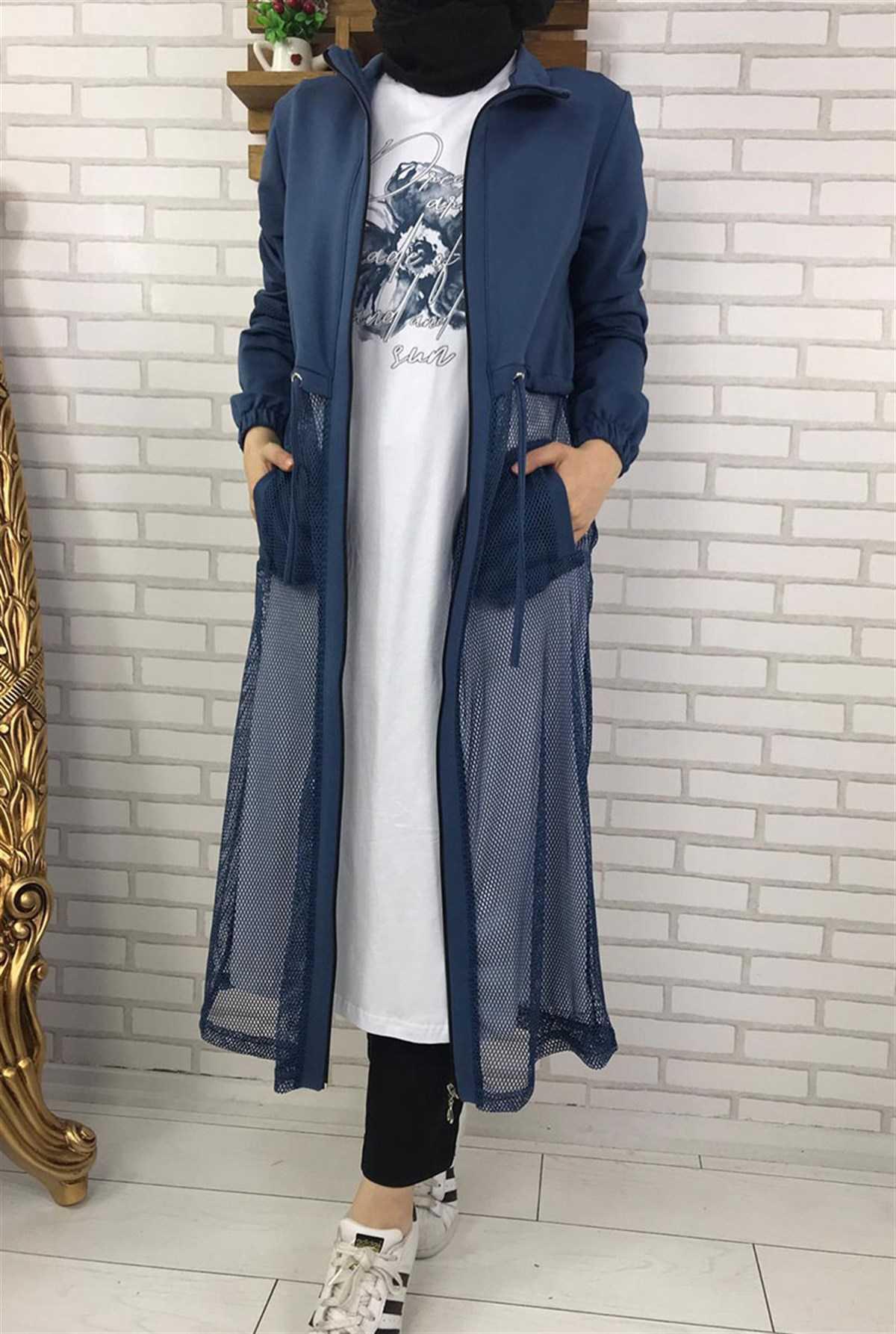 Ermi Tekstil Tesettür Yazlık Uzun Ceket Modelleri