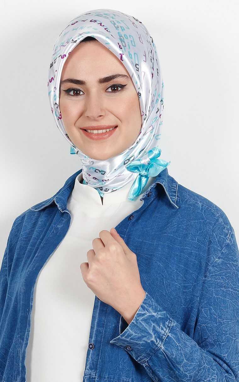 Eşarppark Desenli Saten Eşarp Modelleri
