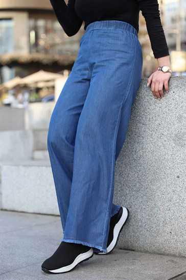 Eylül Tesettür Tensel Kot Pantolon Modelleri