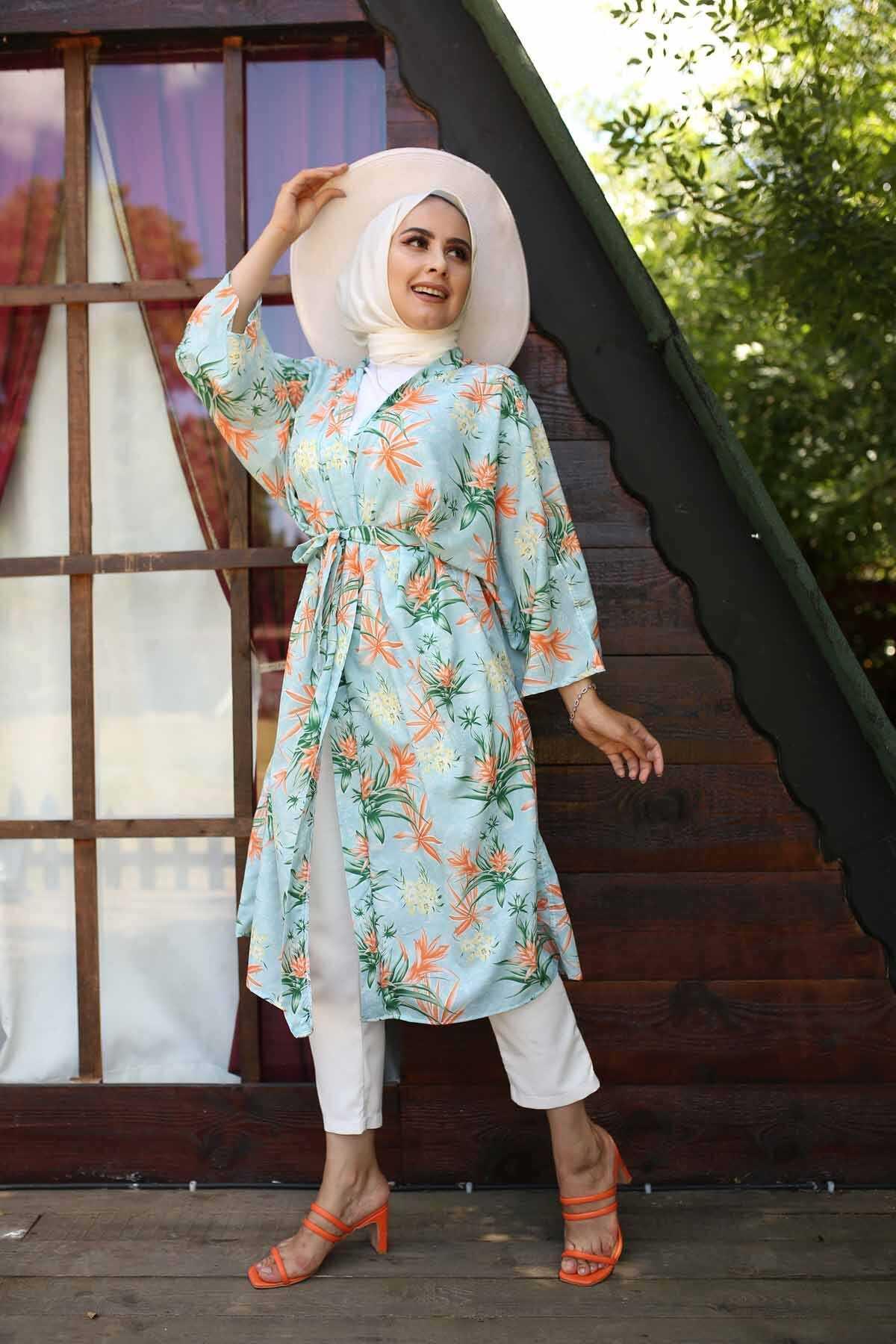 Hf Moda Tesettür Yazlık Kimono Modelleri