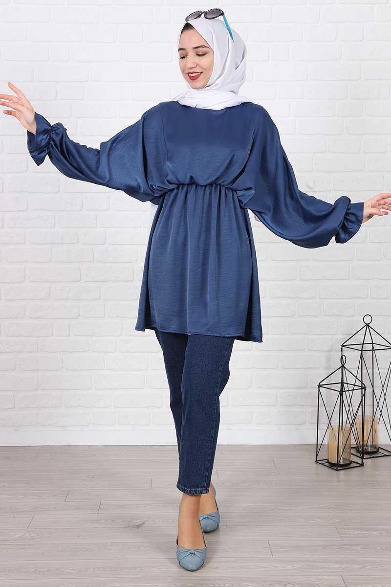 Lamia Giyim Tesettür Saten Tunik Modelleri