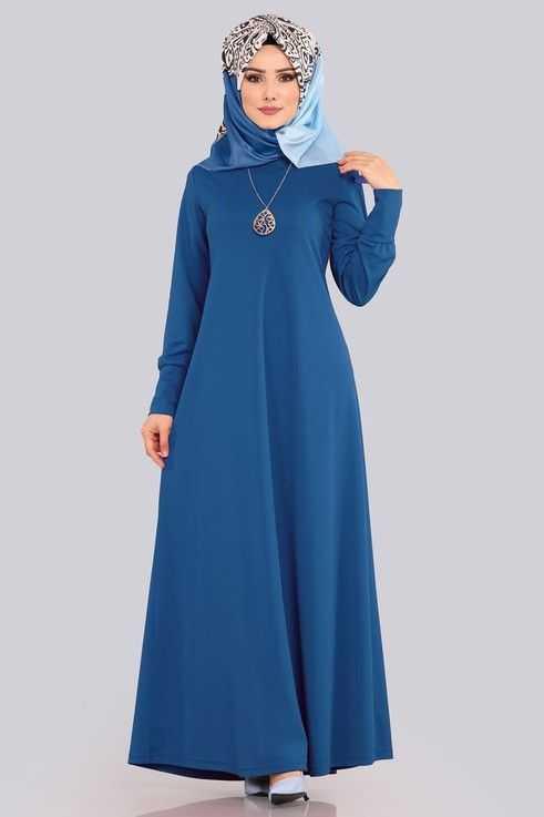 Moda Selvim Boydan Tesettür Elbise Modelleri