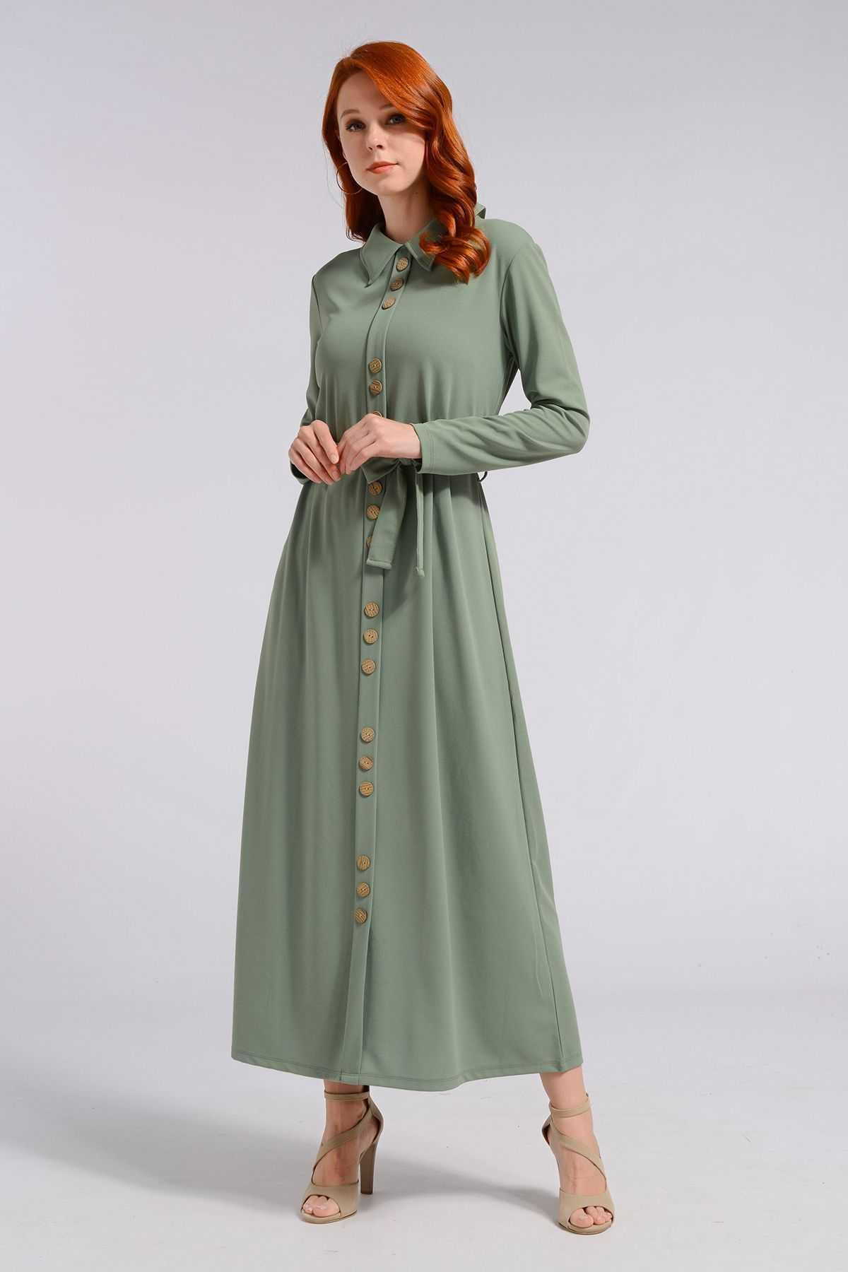 Nefise Boydan Tesettür Elbise Modelleri