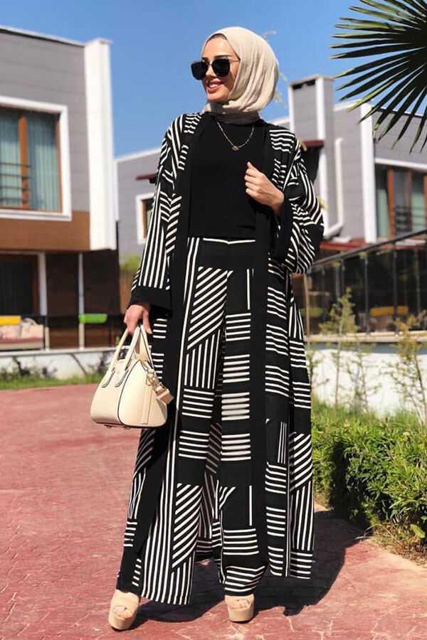 Ribon Tesettür Kimono Takım Modelleri