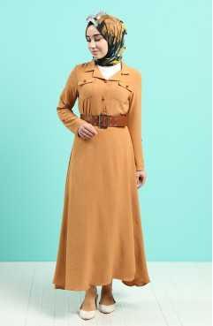 Sefamerve Aerobin Kumaş Boydan Tesettür Elbise Modelleri