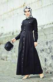 Sefamerve Boydan Tesettür Düğmeli Elbise Modelleri