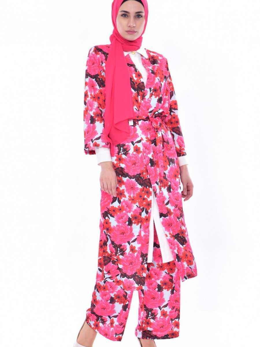 Sefamerve Tesettür Kimono Takım Modelleri