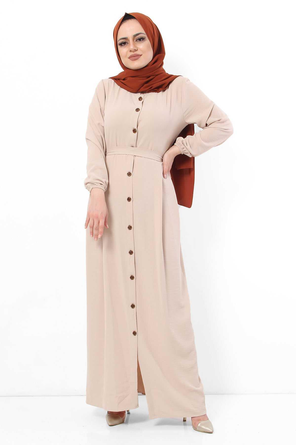 Tesettür Dünyası Ayrobin Elbise Modelleri