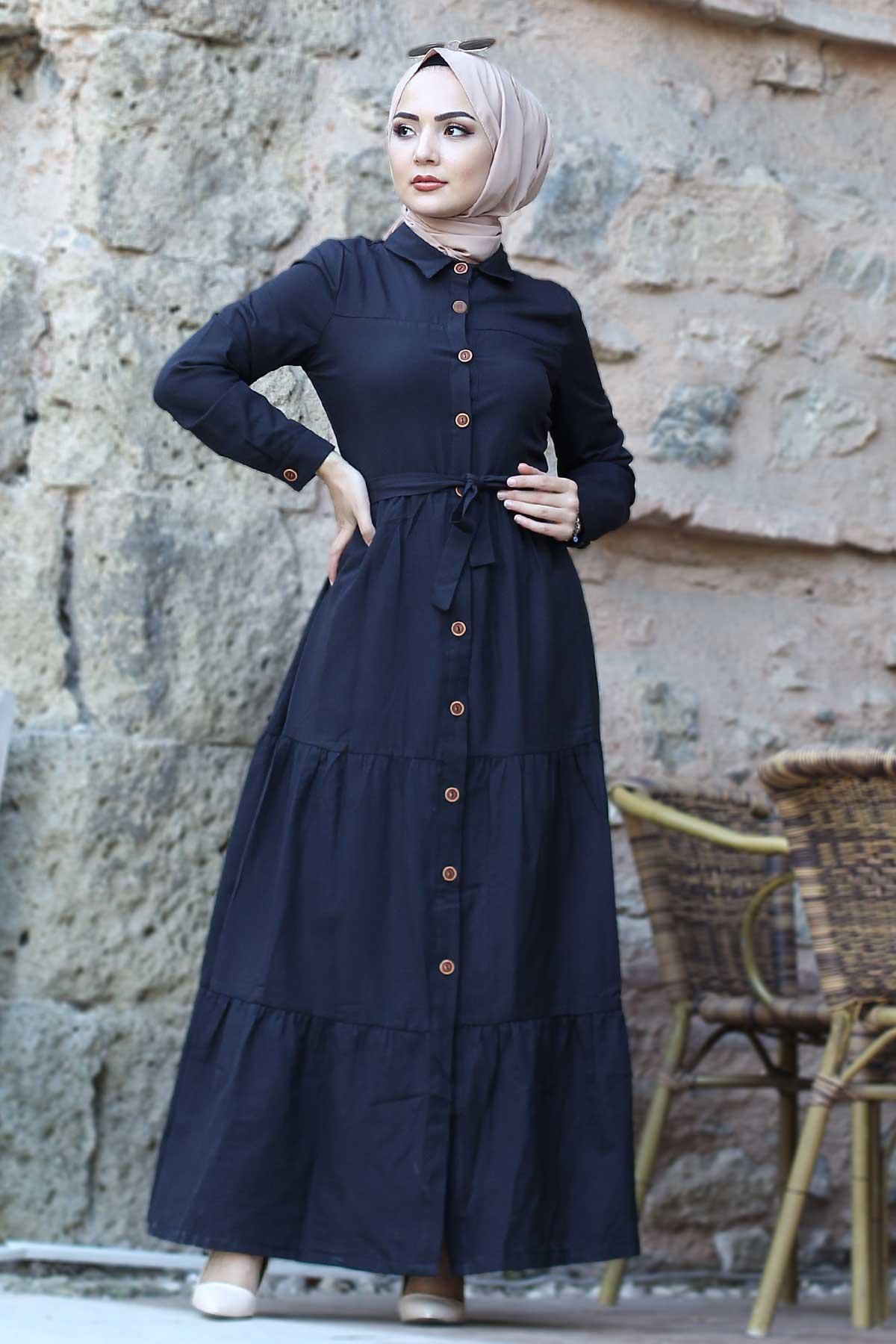 Tesettür Dünyası Boydan Elbise Modelleri