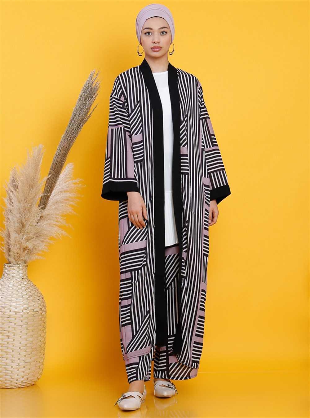 Vamelya Tesettür Kimono Takım Modelleri